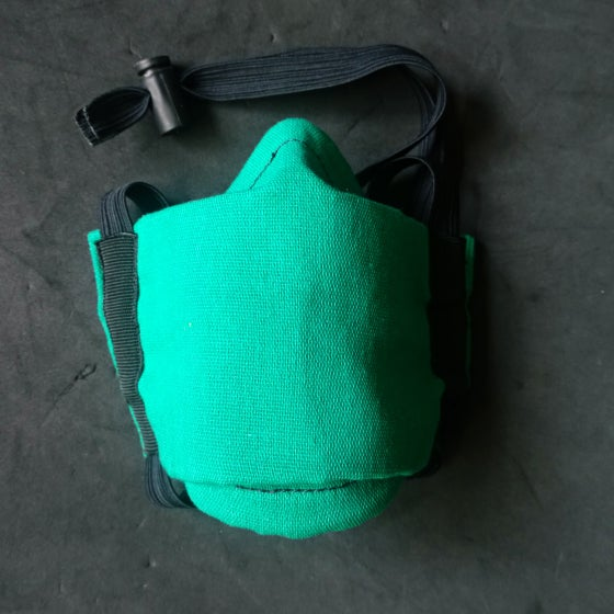 Image of Cotton Face Cover (GREEN) XL WIDE
