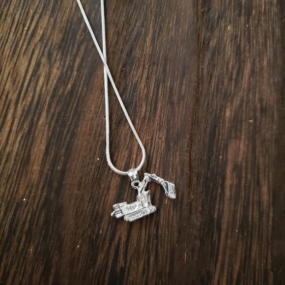 Image of Excavator Bulldozer Necklace