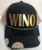 Image of WINO Black/Tan Crystal Brim Trucker Hat