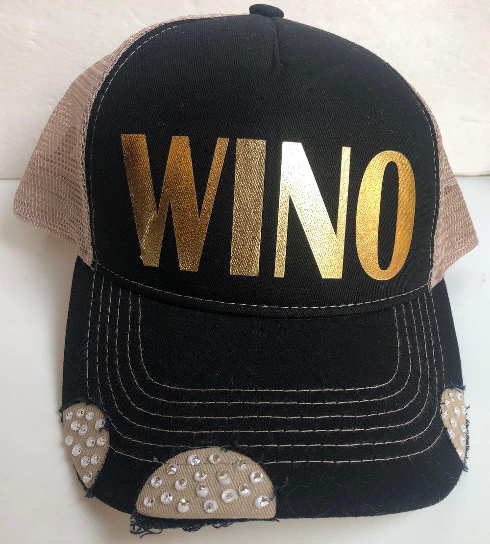 WINO Black/Tan Crystal Brim Trucker Hat