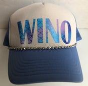 Image of White/BlueTrucker Hat Mermaid WINO