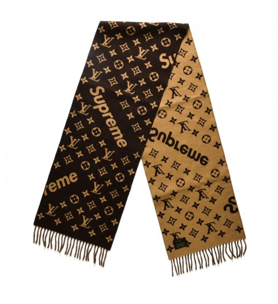 Image of Louisvuitton X Supreme Monogram Scarf Brown