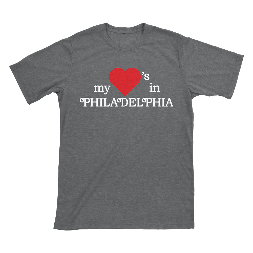 Image of My Heart's in Philadelphia - Grey T-Shirt