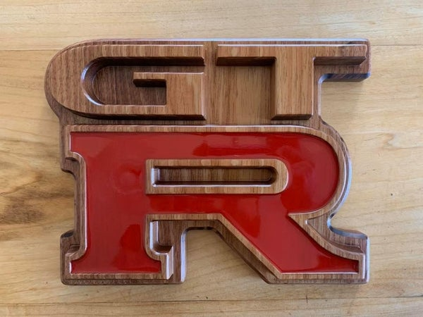 Image of Wooden GT-R Badge