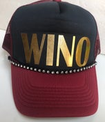 Image of Black/Burgundy Trucker Gold WINO