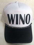 Image of White/Black Trucker Hat Black WINO