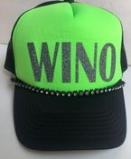 Image of Neon Green/Black Trucker Gray Glitter WINO