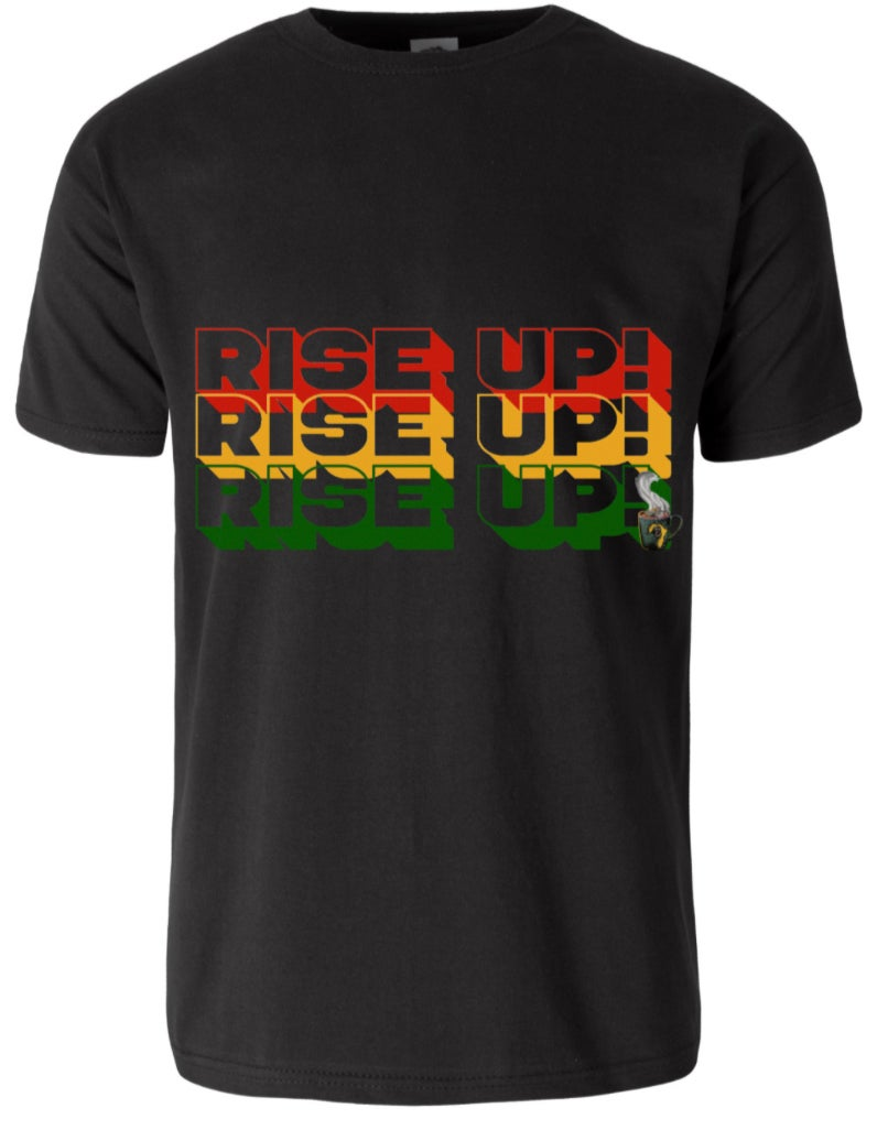 "Image of Black ""Rise Up"" Protest Tee Shirt"
