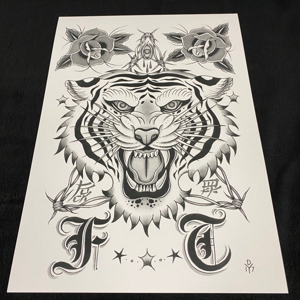 Image of A3 Tiger Print by Danny