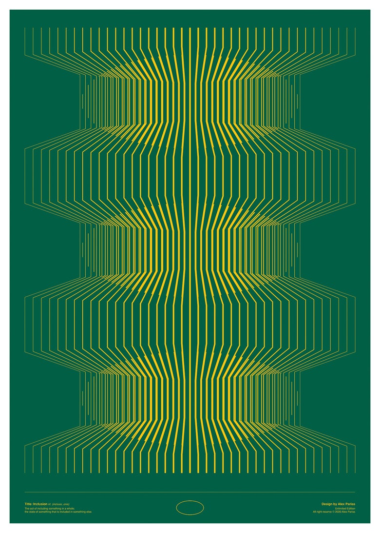 "Image of Art Print ""INCLUSION"" (green)"