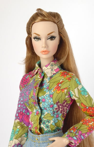 Image of Flowery Liberty shirt for Poppy Parker or Barbie (see description)