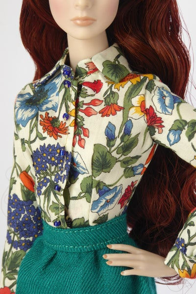 Image of LAST ITEM Flowery Liberty shirt for NU.Face or FR2 (see description)