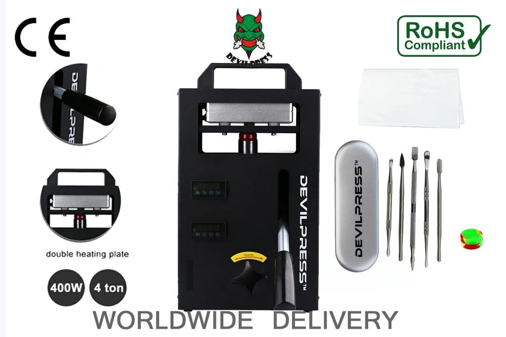 Image of DEVIL PRESS™ DS 2000 11.5cm x 12cm (4TON ) MANUAL ROSIN PRESS™  MACHINE