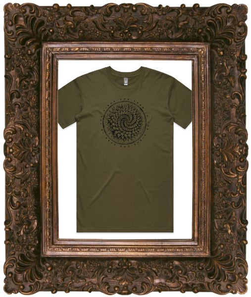 Image of Fear Is The Virus, Army Green T-Shirt w/ Black Print