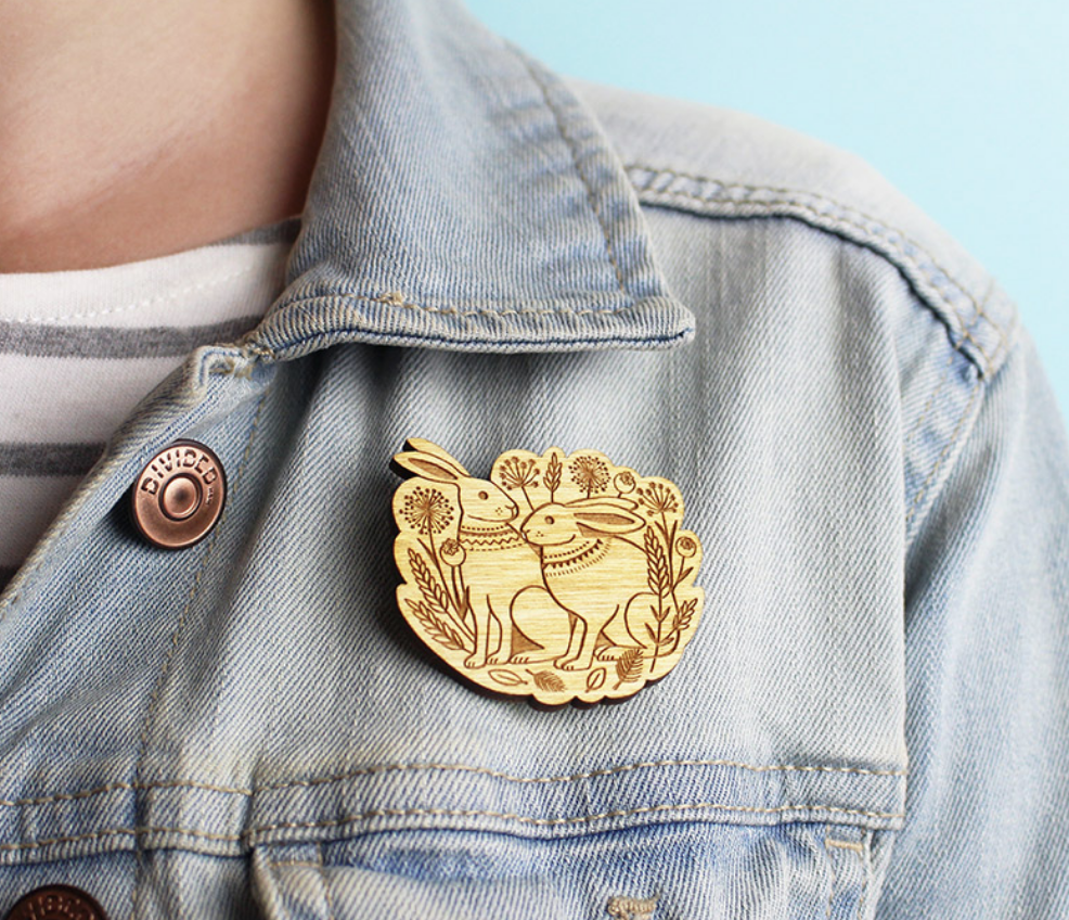 Image of Summer Hares Brooch By Layla Amber