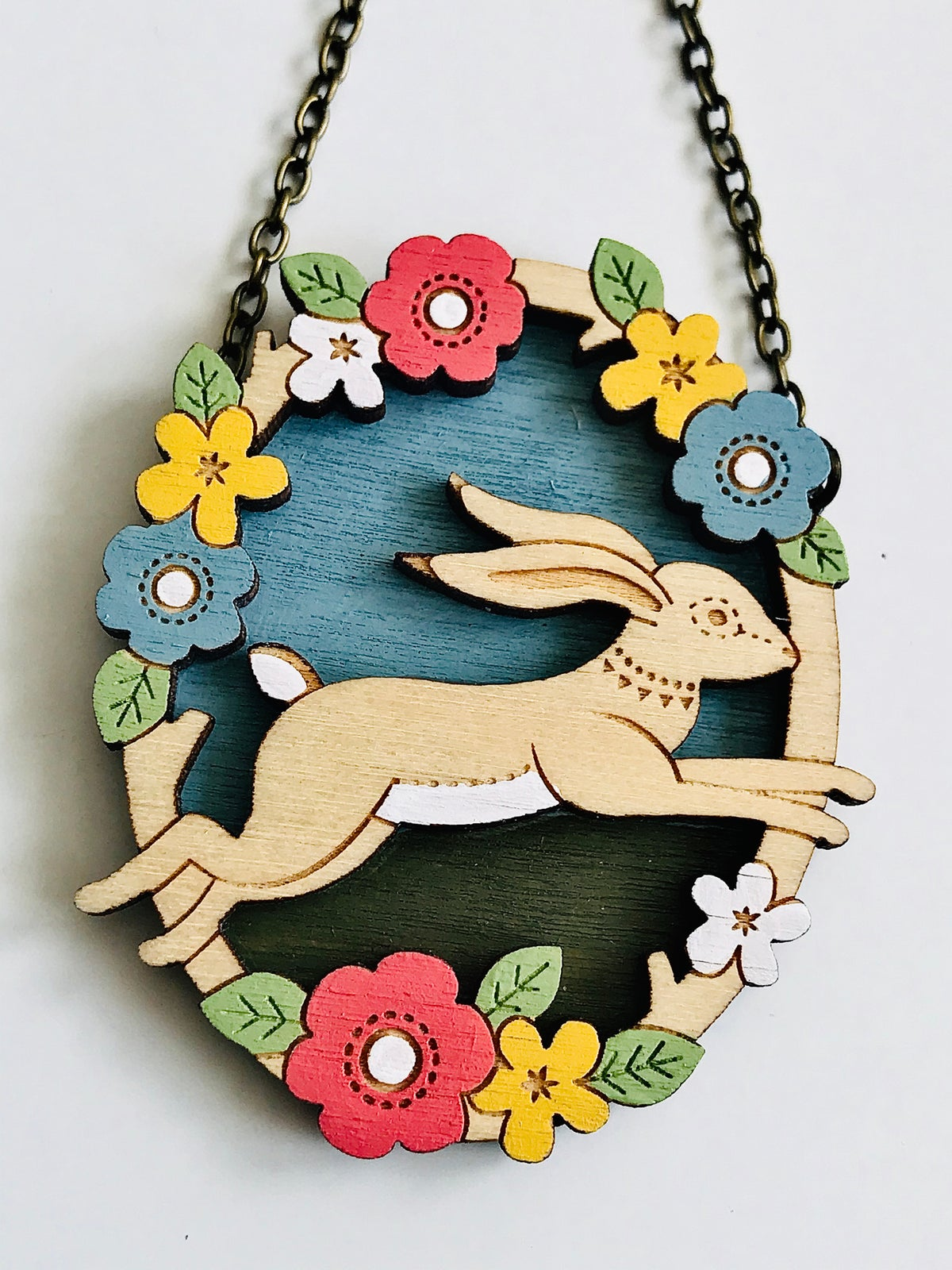 Image of Leaping Hare Necklace By Layla Amber