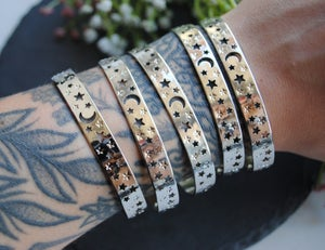 Image of Moon and Stars cuff bracelet
