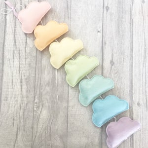 Image of Pastel Rainbow Cloud Garland