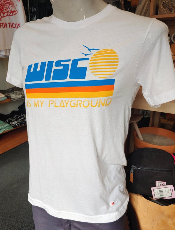Image of Wisco Is My Playground Retro Unisex Tee