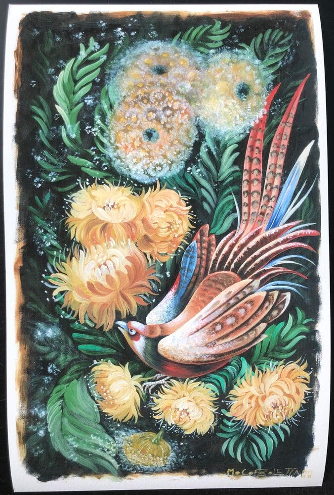 Image of Mo Coppoletta Bird & Dandelions Print