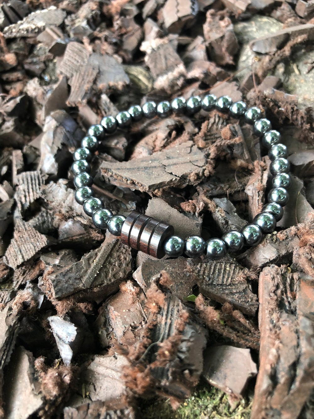 Image of MEN's HEMATITE BRACELET