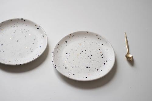 Image of Black and Gold Splatter Plate
