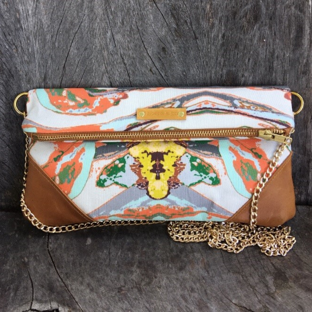 Image of Shelbie Clutch Tangerine