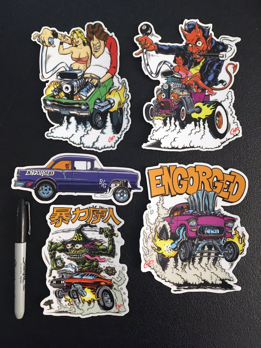 """Image of COOP Sticker Pack #10 """"Finks Are A/Gas"""""""