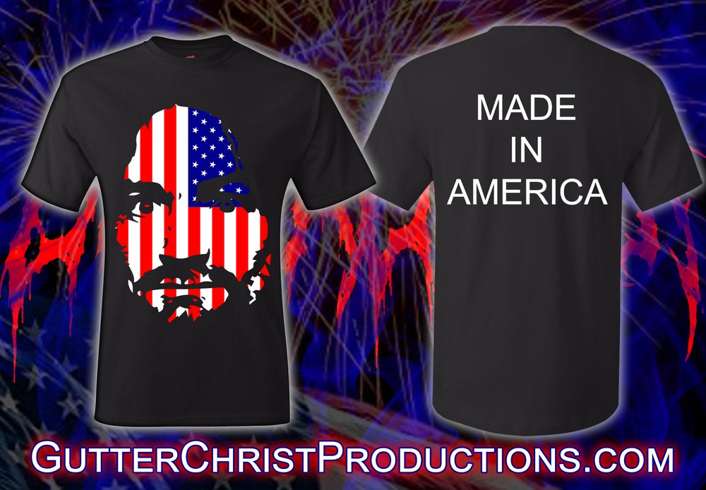 Image of CULT LEADER MANSON MADE IN AMERICA T SHIRT (IN STOCK)