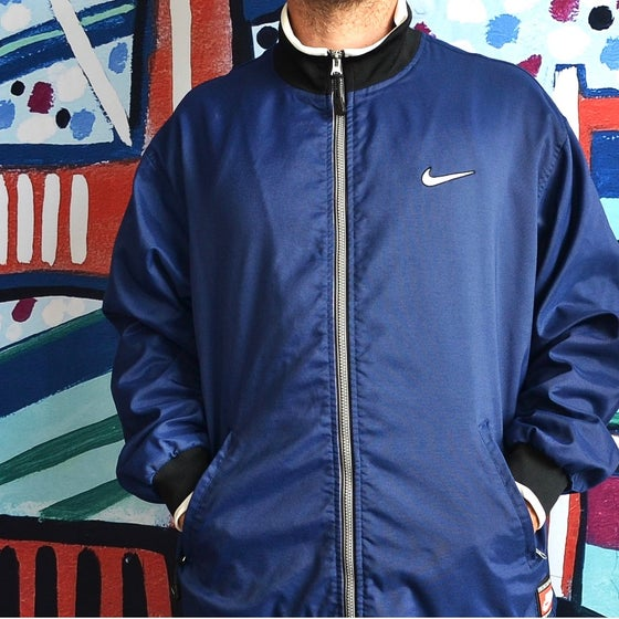 Image of Vintage 1990's Nike Air Team Sport Navy Zip Up Jacket Sz.XL