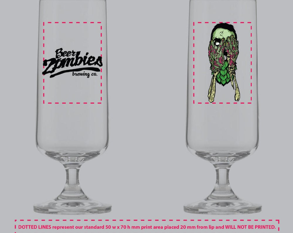 Image of Beer Zombies - Beer Zombies Brewing Co Glass