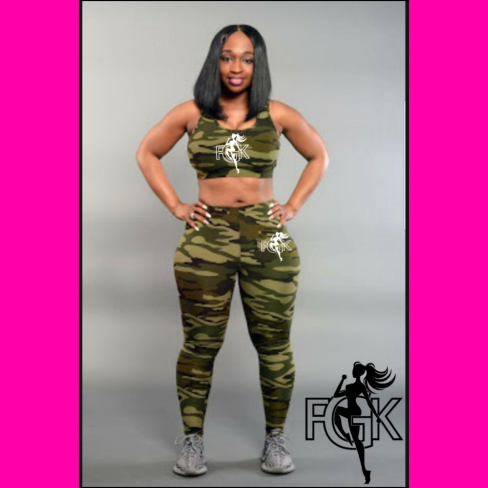 Image of FGK Camo Crop Leggings Set