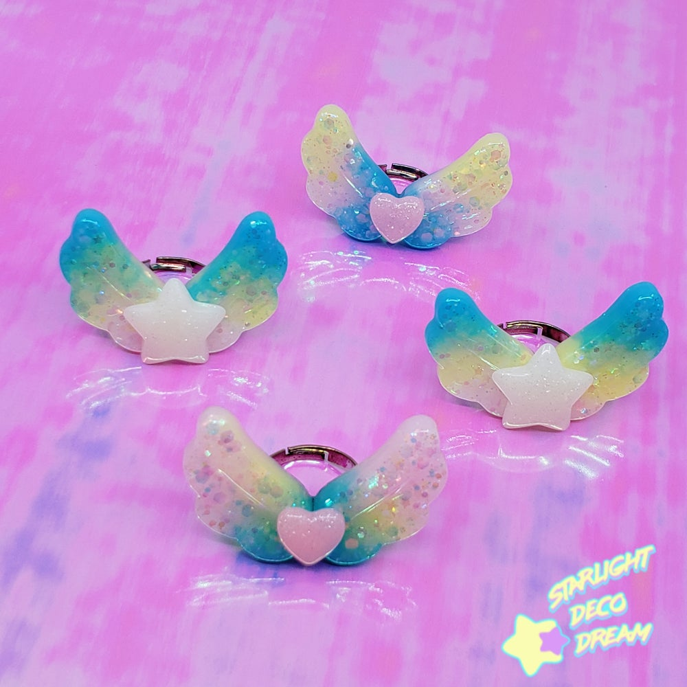 Image of Shining Angel Aurora Jelly Ring / Adjustable Size