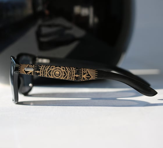 Image of Maia Bamboo Black Sunglasses