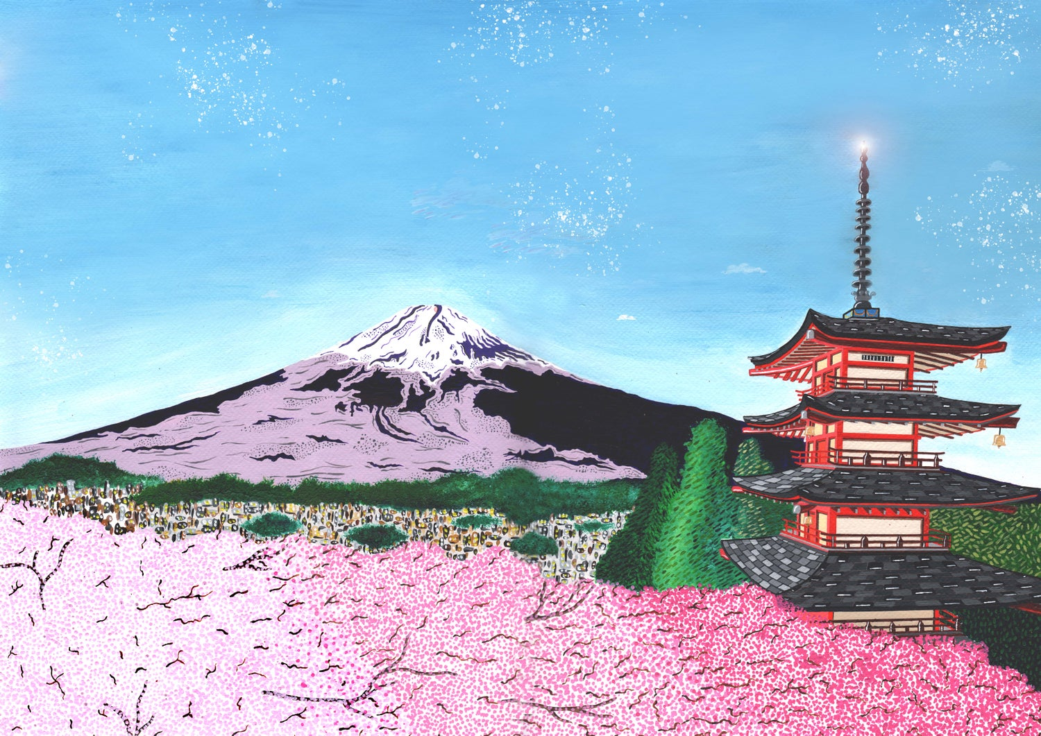 Image of View of Mount Fuji from Chureito Pagoda