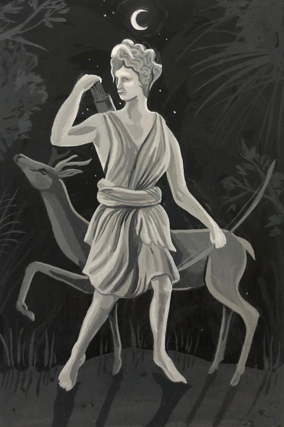 Image of Artemisa y cierva