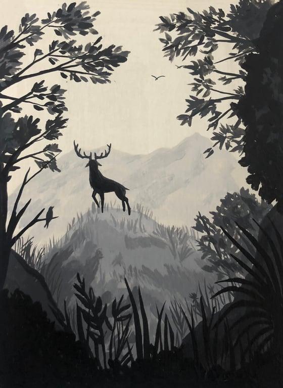 Image of Ciervo y bosque