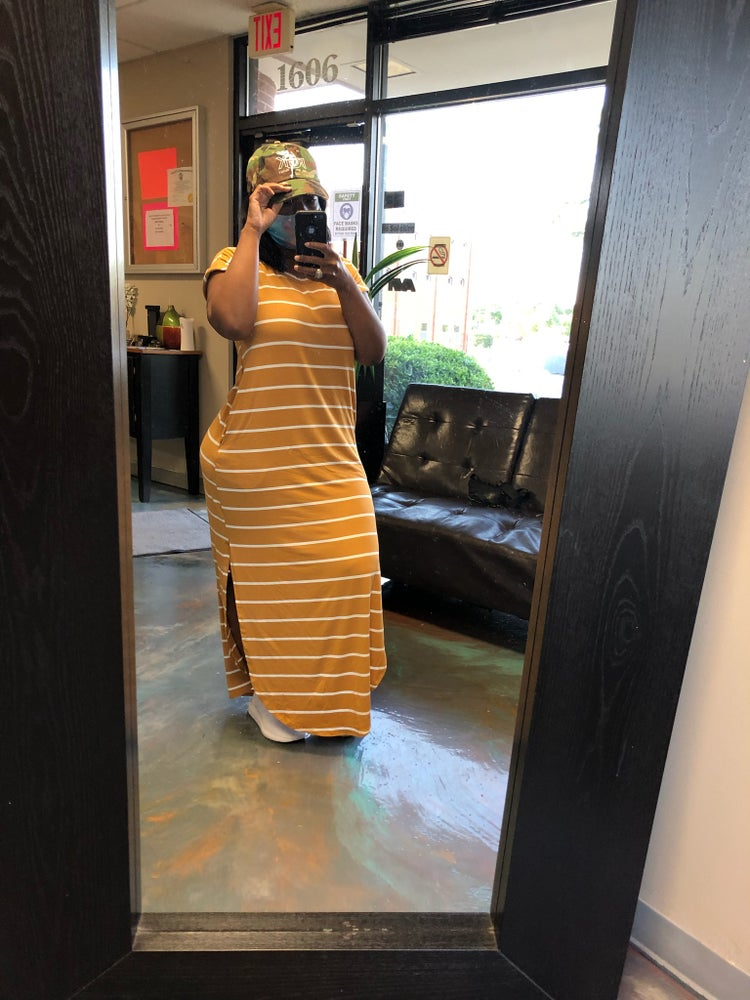 Image of Striped Leisure Dress(S-3X)