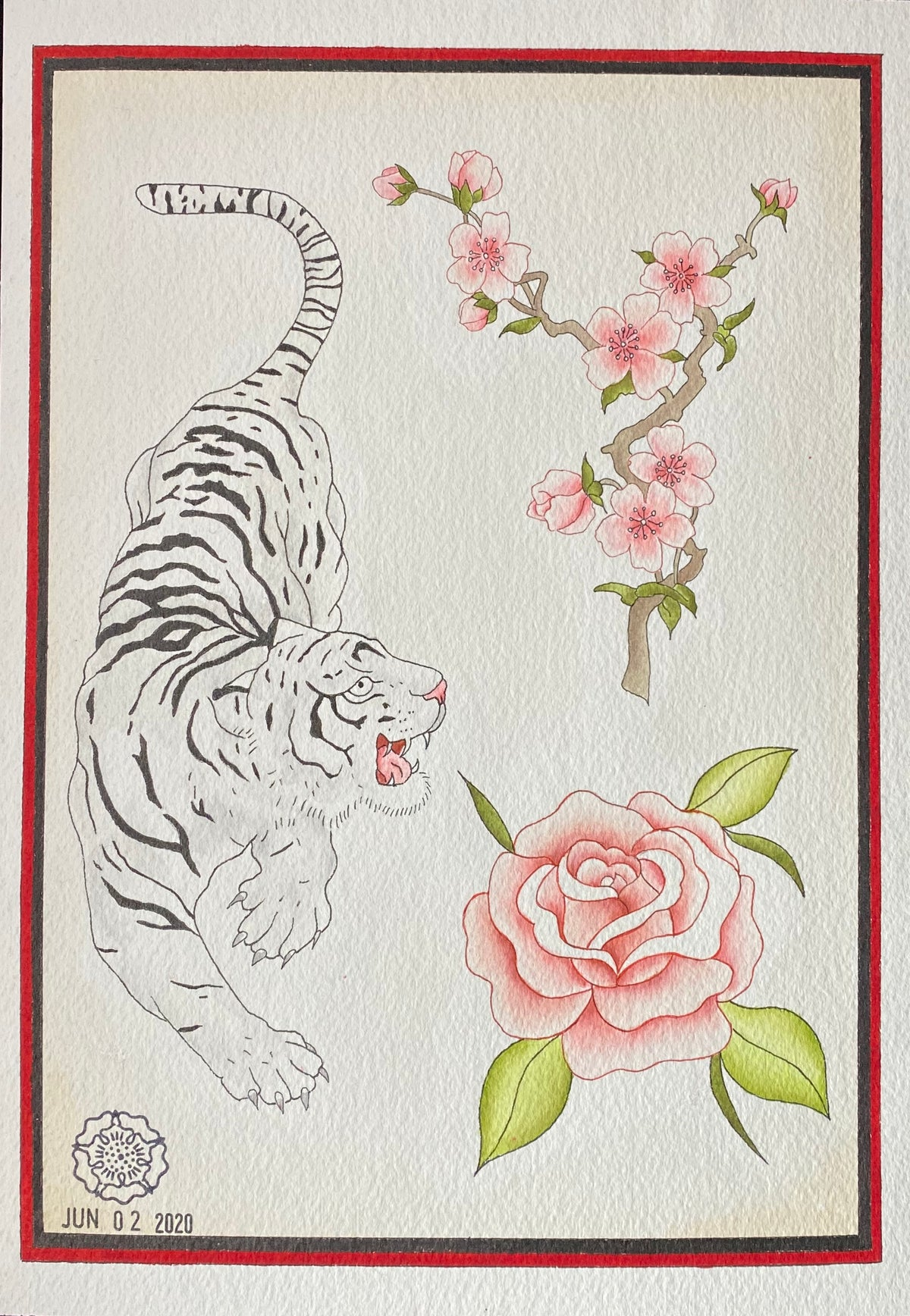Tiger Rose Cherry Blossoms