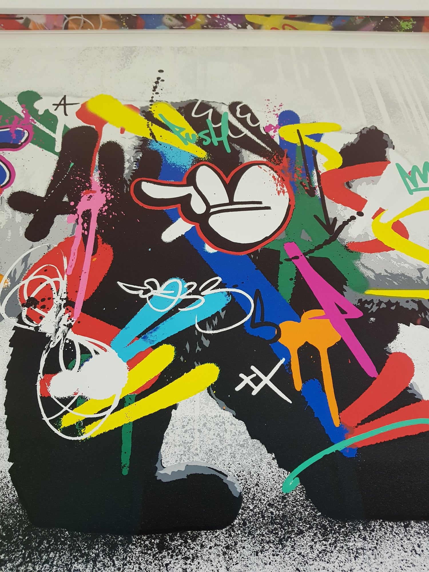 Image of MARTIN WHATSON - PANDA - 24 COLOUR SCREENPRINT - CUSTOM FRAMED WITH HAND PAINTED MW SPACERS