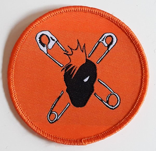 Image of WOVEN PATCH - ORANGE CROSS PINS
