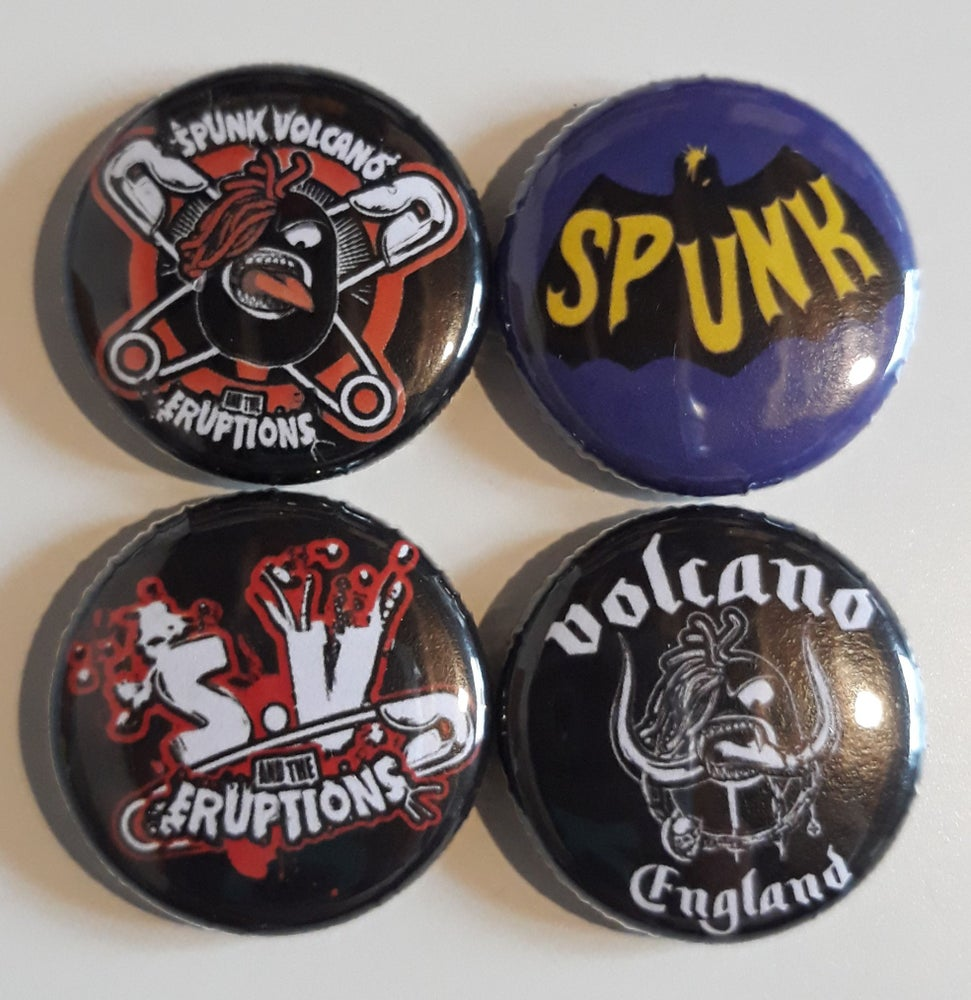 Image of 4 BUTTON BADGE SET