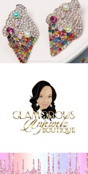 Image of Ice cream bling earrings