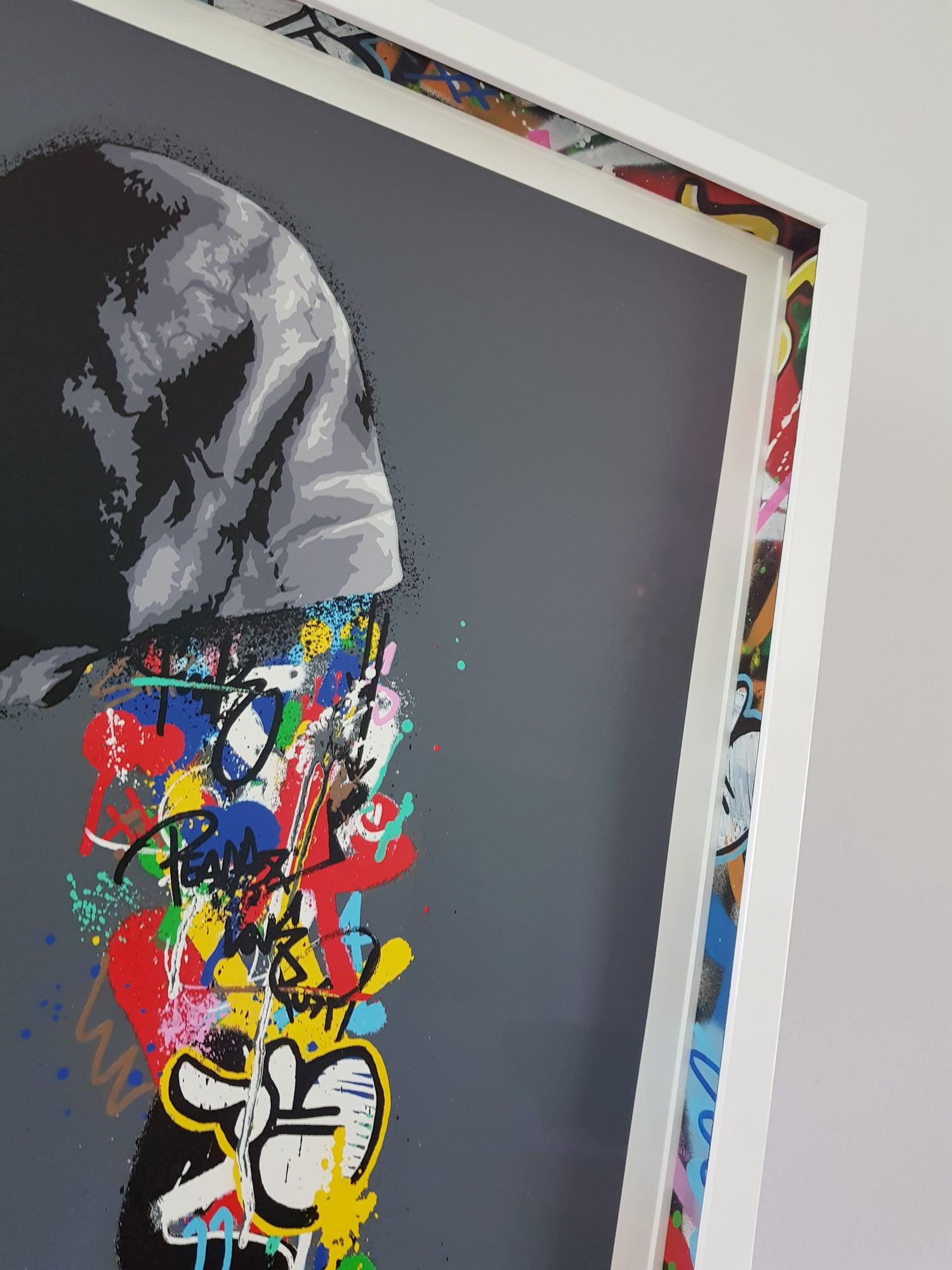 Image of MARTIN WHATSON - CONNECTION - 19 COLOUR SCREENPRINT - CUSTOM FRAMED WITH HAND PAINTED SPACERS