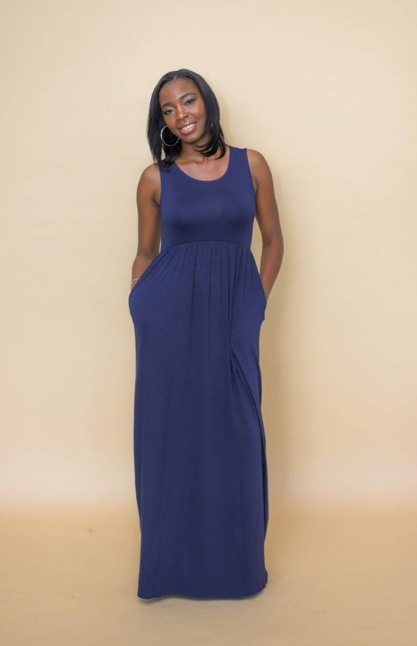 Image of Hautie Navy Blue Long Maxi