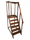 19th C French Oak Library Ladder