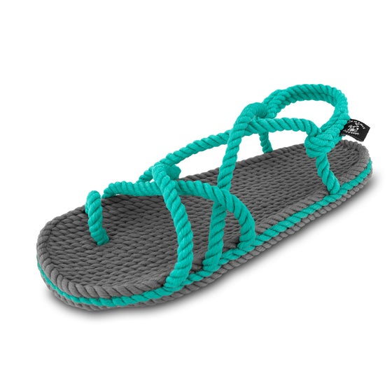 Image of Toe joe grey & turquoise