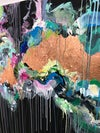 Rainbow waters - Oversized black abstract paintings