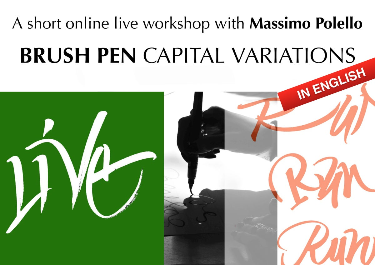 CAPITAL VARIATIONS WITH BRUSH PEN_ RECORDED LESSONS
