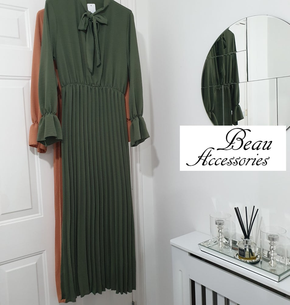 Image of Pleated Long Dress